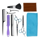 11PCS Hair Cutting Scissors Thinning Shears Set Hairdressing Saloon Barber Tool