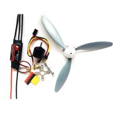 Hobbywing Skywalker 30A ESC+1400KV 2212 Motor+3 Blade 8060 Propeller Power Combo RC Airplane DIY Set