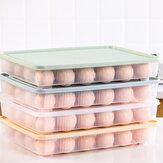 Bakeey Kitchen 24 rejillas de almacenamiento de refrigerador de cartón de huevos Caja Bandeja de huevos de plástico para picnic portátil para huevos