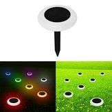 Solar Powered 10 LED RGB Lawn Light Waterproof Outdoor Garden Landscape Yard Path Lamp