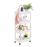 4 niveaux mobile espace de rangement étagère à roulettes chariot chariot réfrigérateur étagère latérale organisateur de bureau cuisine salle de bain support meubles de bureau