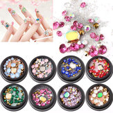 1 Bottle Diamonds Nails Sticker Colorful Beads Crystal