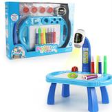 Niños inteligentes Proyector Educación temprana Juguetes Aprendizaje Dibujo Juego de mesa Juego de pintura de iluminación