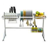 ステンレス鋼キッチン食器乾燥ラック食器水切りラック収納棚ラックカッププレート食器ラックホルダーオーガナイザー