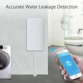 Tuya Home Alarm Alarme de vazamento de água NAS-WS05W WIFI Vazamento de água Sensor Detector Sistema de alarme de segurança de estouro de alerta de inundação