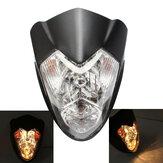 Vivienda h4 hi / lo de los faros de señal de giro con la motocicleta ATV lámpara ámbar