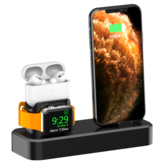 AODUKE 3-in-1 Support 18W Type-C to Lightning Qi Fast Charging Wireless Charger Dock Stand for iPhone iWatch Airpods Pro
