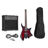 IRIN R-700 Conjunto de guitarra elétrica sem cabeça, captadores duplos Módulo de bloqueio de cordas embutido com alto-falante