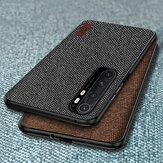 Bakeey Luxury Canvas Fabric Splice Soft Silicone Edge Funda protectora a prueba de golpes para Xiaomi Mi Note 10 Lite No original