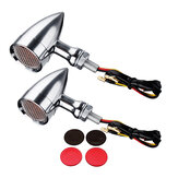 10mm Bullet Grill Lampa LED Turn Signal Indicator dla Harley Chopper Bobper