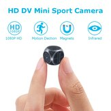 Mini 1920*1080P HD DV Recorder FPV Camera FOV 140 Degree Built-in Battery Support 32G SD Card
