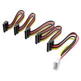 Acasis 4Pin to 15Pin 1 to 5 SATA Power Cable SATA Power Adapter Cable Conversion Cable Cord for 2.5