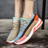 Women Colorful Mesh Cloth Breathable Running Sneakers