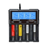 ADEASKA VC4 PLUS Inteligente LCD Display USB Bateria Carregador para IMR / Li-ion Ni-MH / Ni-Cd / LiFePO4 Bateria