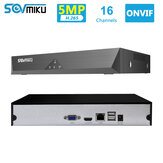 SOVMIKU SFNVR H.265 16CH 5MP CCTV NVR Mootion Detect CCTV Network Video Recorder ONVIF P2P voor IP-camera 4MP / 3MP / 2MP beveiligingssysteem