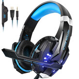KOTION EACH G9000 Gaming Headset Wired Glowing Earphones Deep Bass Stereo RGB Light Game Headset With Mic