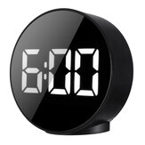 LED Electronic Alarm Clock With Voice-controlled Temperature Bedside Alarm Clock Creative Mirror Clock