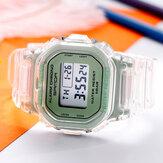 SANDA 2009 Şeffaf Kayış Taze Renk Moda Aydınlık Ekran Kronometre Coupole Dijital İzle