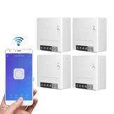 4pcs SONOFF MiniR2 interruptor inteligente bidirecional 10A AC100-240V Funciona com Amazon Alexa Google Home Assistant Nest compatível com modo DIY Permite Flash o firmware