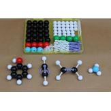 136db kémiai molekuláris szerkezetű modellkészlet Általános és szerves kémiai atomkötésű molekulák orvosi készlet