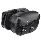 Motorcycle PU Leather Luggage Saddlebags Black For Sportster XL883 1200