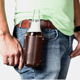 Hommes Vintage Faux Leather Waist Bottle Bag Carry Bag Fanny Pack With Water Bottle Holder