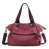 KVKY Women Canvas Tote Handbags Casual Front Pockets Bags