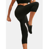 Women Solid Color Moisture Wicking Sport Yoga High Waist Pants