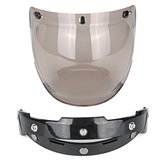 Open Face Motorcycle Helmet Bubble Visor Lens