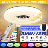 WIFI LED Luz de techo 256 RGB bluetooth Música Altavoz regulable Lámpara Control remoto
