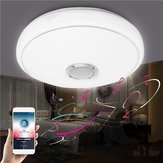 24W Modern LED Ceiling Light bluetooth Music Speaker Lamp for Bedroom Living Room AC185-260V