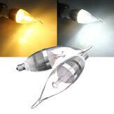 E12 4.5W 500-550lm Dimmable LED Candle Light Bulb Silver AC 220V