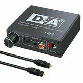 HIFI ЦАП усилитель цифро-аналоговый преобразователь аудио декодер 3,5 мм AUX RCA Усилитель адаптер Toslink оптический коаксиальный выход DAC 24 бит