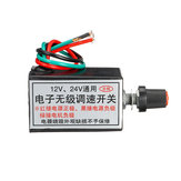 12V/24V Stepless Variable Speed Regulator Switch Electric Fan Bulb Electronic Stepless Dimmer Switch