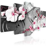 5ピースキャンバスプリント絵画水仙花壁装飾プリントアート写真フレームレス壁掛け装飾用ホームオフィス