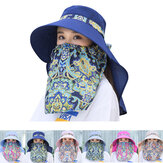 Damska regulowana pyłoodporna ochronna czapka przeciwsłoneczna z maską Letnia, odporna na promieniowanie UV czapka przeciwsłoneczna