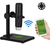 Portable USB Wifi Microscope 8 LED Light Adjustable Dimmer Real-Time 0-1000X Practical Handheld Magnifier Camera