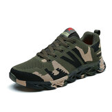 Men Camouflage Knitted Fabric Breathable Non Slip Soft Casual Running Shoes