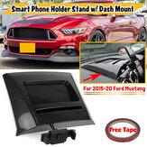 Dla Ford Mustang 15-20 Uchwyt grawitacyjny telefonu Stojak węglowy z dokładnie dopasowanym uchwytem na deskę rozdzielczą