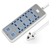USB 4 Port 8 Way Power Strip Socket Multifunctional Outlets Charger Plug Cord