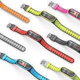 Bakeey Dual Color Silicone Watch Band Watch Strap Replacement for Xiaomi Miband 5 Non-original