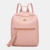 Женская мода Pure Color легкий вес большой емкости рюкзак