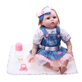 Oubeier Reborn Doll Vinyl Body 55CM Handmade Silicone Girl Lovely Cloth Toys Kids Gift