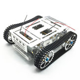 DIY Aluminium Alloy Tracked RC Robot Chassis Tank Car With Crawler Set