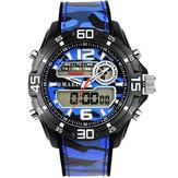 SMAEL 1077 Men Military Luminous Dual Display Digital Watch