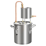12L/20L/33L/50L Alcohol Distiller 201 Stainless Steel Still Brewer Pure Water Kit Brew Alcohol Oil Boiler