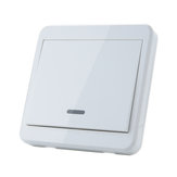 5pcs KTNNKG 433MHz Universal Wireless Remote Control 86 Wall Panel RF Transmitter With 1 Buttons For Home Room Lighting Switch