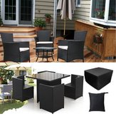 Garden Patio Rectangular Table Chairs Funda protectora Impermeable Funda plegable a prueba de polvo Furnitur