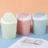 Bakeey творческий пластиковый ящик для хранения бытовой мини настольный мусорный бак гостиная стол прикроватный флип мусорный бак