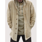Mens Vintage Chinese Style Cotton Hooded Plus Size Coats